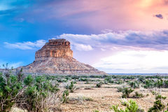 Fajada Butte in Chaco Culture National Historical Park, New Mexi Royalty Free Stock Images