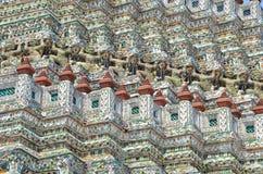 Fajansowa mozaika Wat Arun Bangkok obrazy royalty free