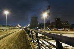 Fajczana roślina przy nocą Zdjęcia Royalty Free