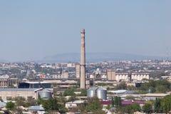 Fajczana roślina w Shymkent kazakhstan Obraz Stock