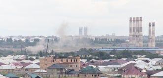 Fajczana roślina w Shymkent kazakhstan Zdjęcia Stock