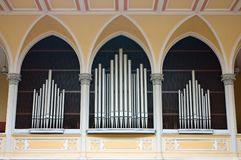 Fajczany Organ w Kościół Chrześcijański w Praga Fotografia Stock