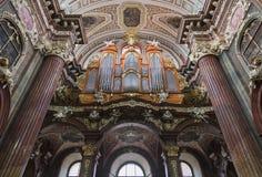 Fajczany organ w kościół Nasz dama Fotografia Royalty Free