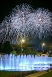 Fajerwerków above - wodna fontanna Zdjęcie Stock