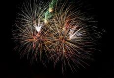 fajerwerków wielokrotności real Zdjęcie Royalty Free