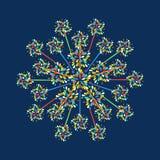 Fajerwerk kształtuje kolorową świąteczną wektorową ikonę Zdjęcia Stock
