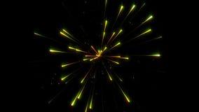 Fajerwerk na ciemnym tła wideo pojęciu zbiory
