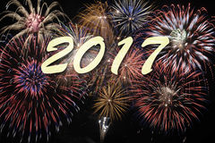 Fajerwerk przy nowy rok 2017 Obraz Royalty Free