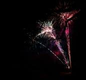 Fajerwerk przy nowym rokiem zdjęcie royalty free
