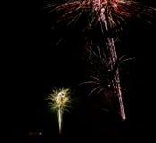 Fajerwerk przy nowym rokiem fotografia stock