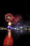 Fajerwerk przy Putrajaya Zdjęcia Royalty Free
