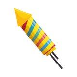 Fajerwerk rakiety odosobniona ikona royalty ilustracja