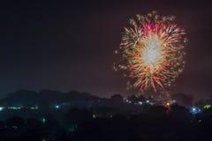 Fajerwerki 2016 Fotografia Royalty Free