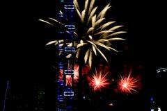 Fajerwerki dla święta państwowego w Singapur Fotografia Royalty Free