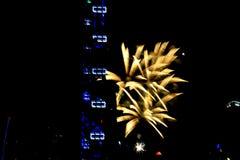 Fajerwerki dla święta państwowego w Singapur Fotografia Stock