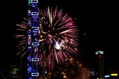 Fajerwerki dla święta państwowego w Singapur Zdjęcie Royalty Free