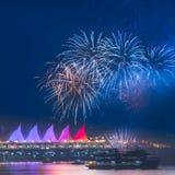 Fajerwerki dla nowego roku 2018 świętowań Obraz Royalty Free