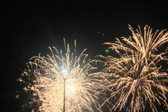 Fajerwerki-Feuerwerke Stockfotografie