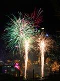 Fajerwerki, Kochany schronienie, Sydney obraz royalty free