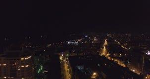 Fajerwerki nad miast światłami zbiory