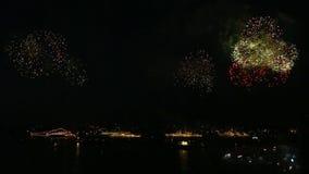 Fajerwerki nad paradą okręty wojenni Rosja zbiory wideo