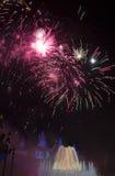 Fajerwerki przy losem angeles Merce Zdjęcie Royalty Free