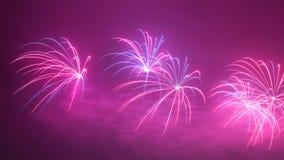 Fajerwerki przy nocą Obrazy Royalty Free