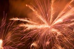 Fajerwerki przy Noc Fotografia Royalty Free