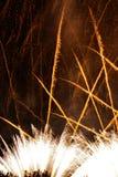 Fajerwerki przy Noc Zdjęcia Royalty Free
