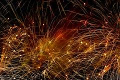 Fajerwerki przy Noc Obraz Royalty Free