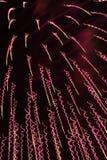 Fajerwerki przy Noc Obraz Stock