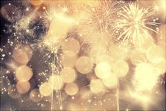 Fajerwerki przy nowym rokiem Obraz Royalty Free