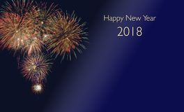 Fajerwerki przy silvester i nowy rok wigilii 2018 Fotografia Stock