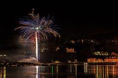 Fajerwerki Shaldon 2015 Zdjęcia Royalty Free