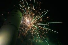 Fajerwerki w miasteczku Zdjęcie Royalty Free