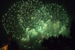 Fajerwerki w nocnym niebie fotografia royalty free
