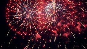 fajerwerki Wakacyjny nowy rok bożych narodzeń świętowanie zbiory