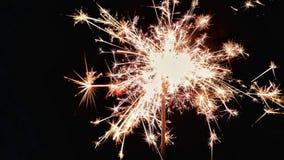 Fajerwerki z Nowym Year& x27; s wigilia zdjęcia royalty free