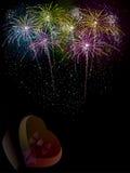 Fajerwerku świętowania wektorowy tło Zdjęcia Stock