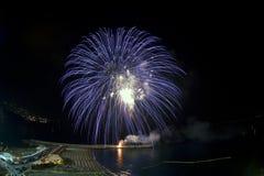 fajerwerku błękitny krajobraz Zdjęcia Royalty Free