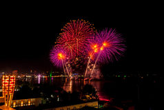 Fajerwerku festiwal przy Pattaya Obraz Stock
