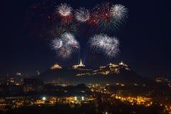 Fajerwerku festiwal w Thailand Zdjęcie Royalty Free