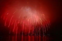 fajerwerku nadmierny jeziorny Obraz Royalty Free