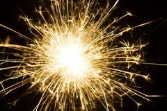 fajerwerku płonący sparkler Fotografia Stock