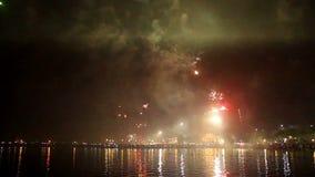 Fajerwerku przedstawienie w świętowaniu zdjęcie wideo