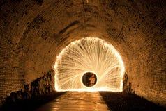fajerwerku tunel Obrazy Stock