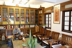 Fajing, abad del templo del miaofalinsi hace té Imagen de archivo