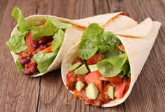 Fajita burrito Royalty Free Stock Photo