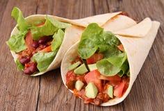 Fajita burrito Royalty Free Stock Photo
