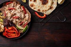 Fajita de porc Photo stock